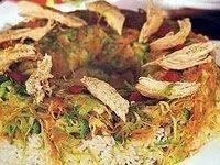 قالب الأرز بالدجاج والخضروات
