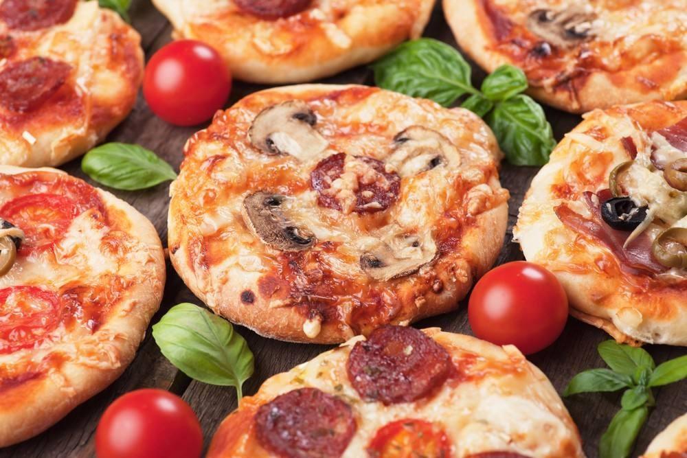 طريقة عمل ميني بيتزا بالمشروم