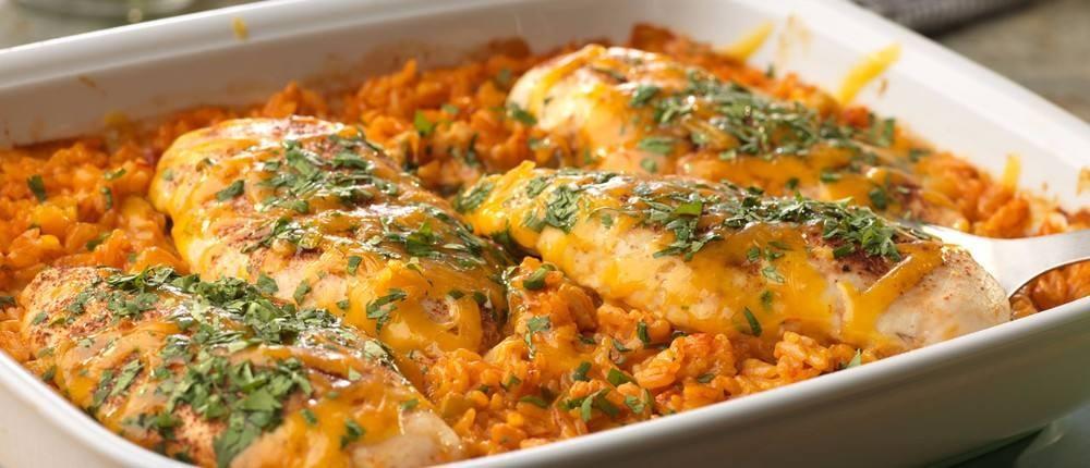 طريقة عمل صدور الدجاج بالأرز و صوص الجبن الشيدر