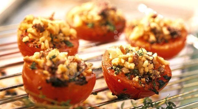 طريقة عمل الطماطم المشوية بالزعتر