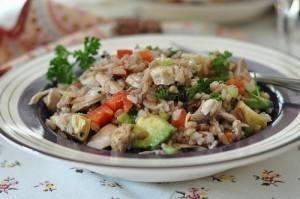 دجاج بالأرز والخرشوف