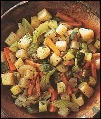 طاجن الخضروات بالريحان