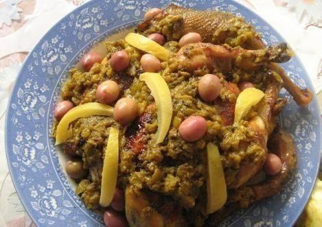 دجاج محمر بطريقة المغرب