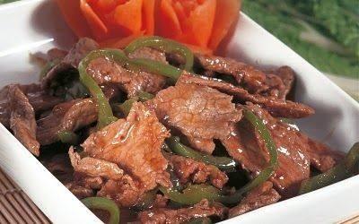 شرائح اللحم بصلصة الصويا