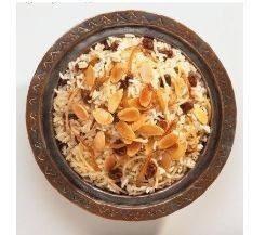 أرز باللوز المحمص