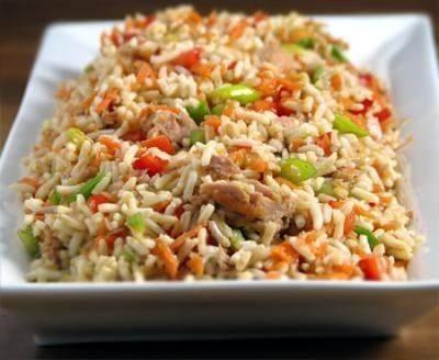 أرز بالفلفل والفاصوليا