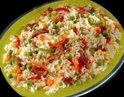 الأرز بالذرة