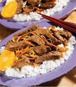 أرز بشرائح اللحم