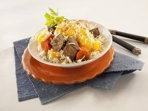 أرز بالقرع والجزر