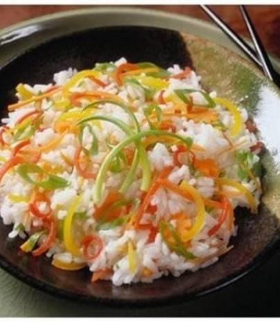 الأرز الأبيض بالخضار