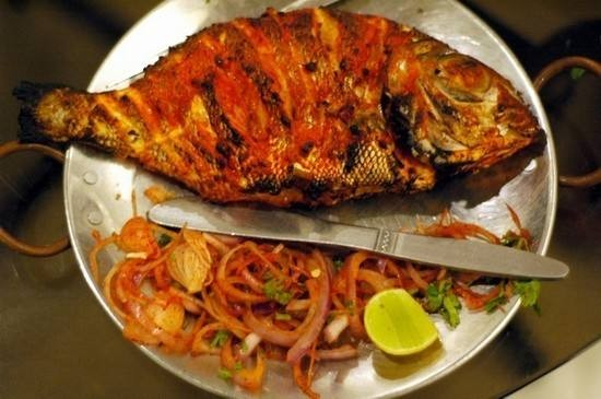 سمك بالكاري والزبادي