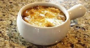 شوربة البصل والجبن