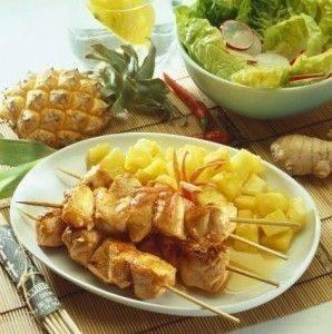 دجاج بالأناناس